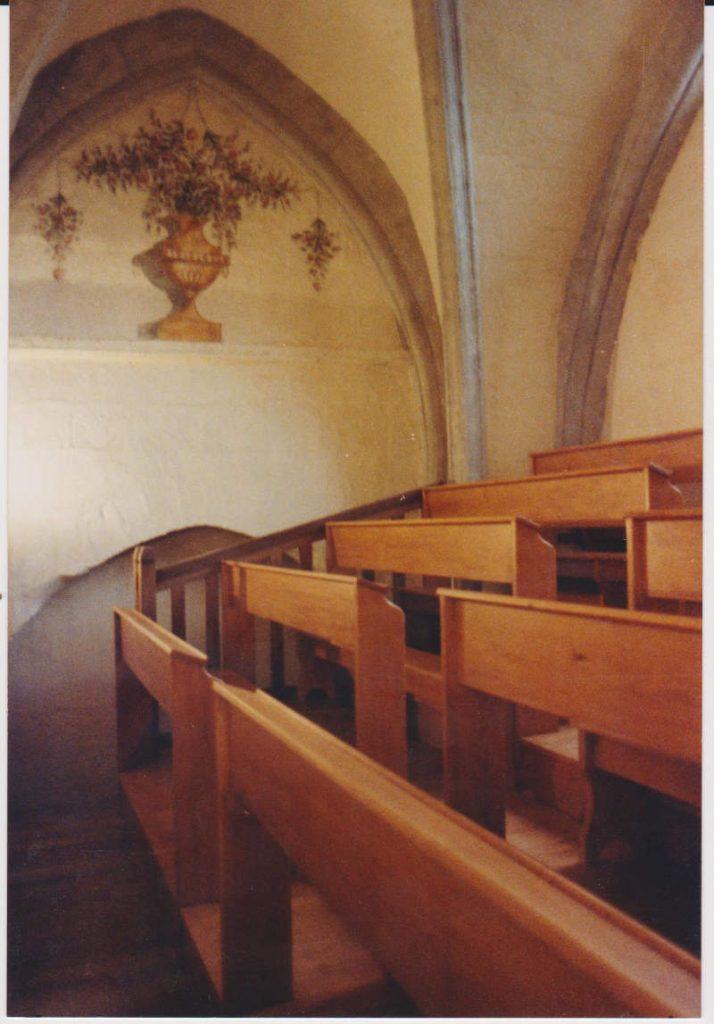 banc d'église en chêne massif
