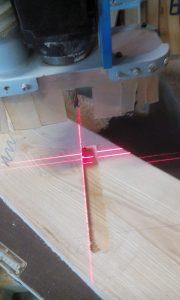 défonceuse laser pour fabrication d'escaliers