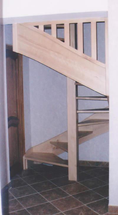 escalier à poteau central