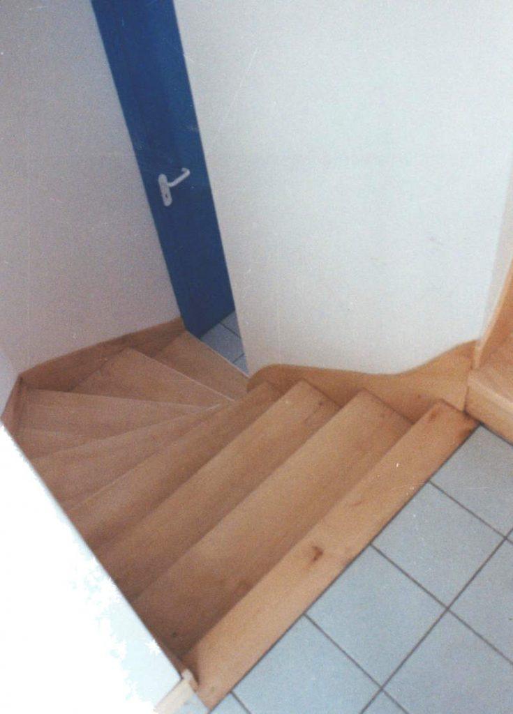 habillage d'un escalier béton pour recouvrir avec bois de hêtre massif