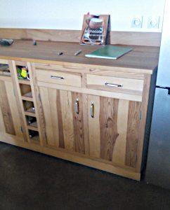 meuble bas de cuisine en pin massif
